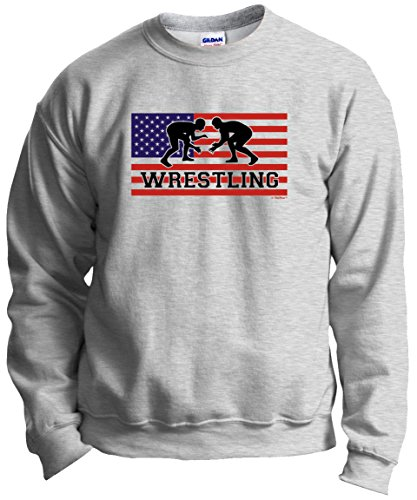 Wrestling Shoes American Pride Wrestling Crewneck Sweatshirt Large - Pin Olympic Wrestling