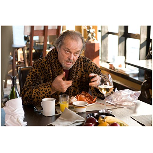 Jack Nicholson 8 Inch x 10 Inch Photograph The Shining The Departed Chinatown Talking/Eating at Table in Robe Pose 2 kn