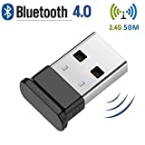 Bluetooth USB Adapter, 4.0 USB Bluetooth Dongle for desktop,Windows 10/8.1/8, Vista and XP, Devices with 2.4Ghz range by KEY IDEA (Black)