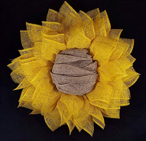 Fall Everyday Yellow Burlap Sunflower Wreath for Front Door Autumn Home Wall Decor 24 in