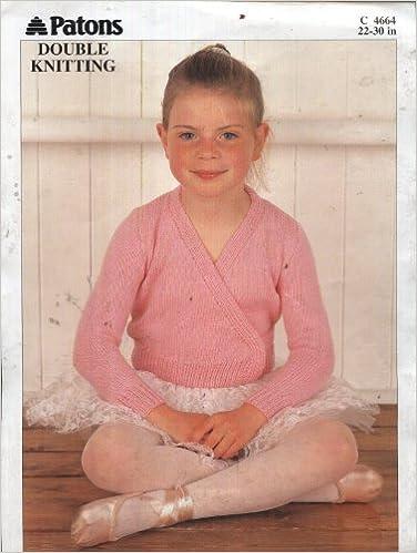 Patons Knitting Pattern 4664 Girls Ballet Cardigan 22 30in
