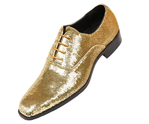 Metallic Gold Mens Shoes - 5