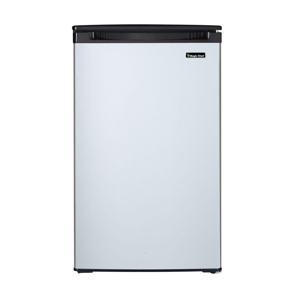 4.4 cu. ft. Mini Refrigerator with Freezerless Design in Stainless Steel by Magic Chef