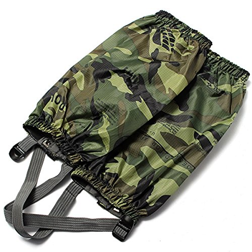 KINGSO Gaiters Camouflage Waterproof Walking