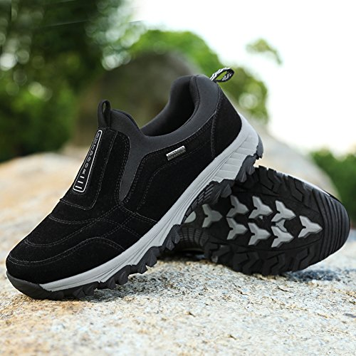 Men Walking Shoes Breathable Sneakers Black Winter Boots Suede Casual Hiking Outdoor GOMNEAR H0wqdH
