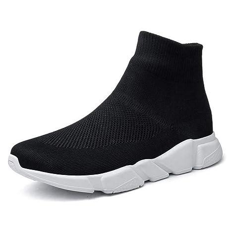 Hy Calzado Casual de Hombre, Zapatillas Altas, Zapatillas de Calcetines elásticos de Primavera/