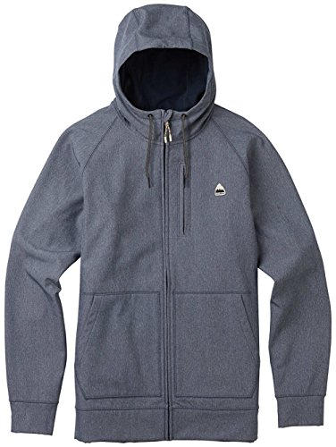 Burton Men's Crown Bonded Full-Zip Hoodie Denim Heather Size Medium by BURTON NUTRITION