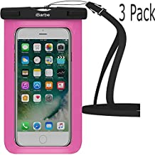Waterproof Case,3 Pack iBarbe Universal Cell Phone Dry Bag Pouch Underwater Cover for Apple iPhone 7 7 plus 6S 6 6S Plus SE 5S 5c samsung galaxy Note 5 s8 s8 plus S7 S6 Edge s5 etc.to 5.7 inch,Rose