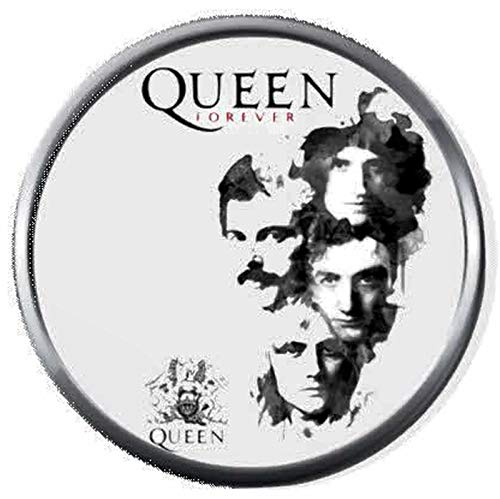 Queen Freddie Mercury and Rock Band Members Rock and Roll Hall of Fame Silhouette On White 18MM - 20MM Fashion Snap Jewelry Snap Charm