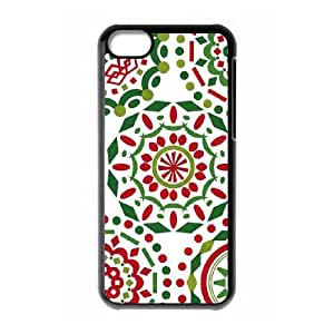 White Christmas Doilies iPhone 5c Cell Phone Case Black&Phone Accessory STC_050259