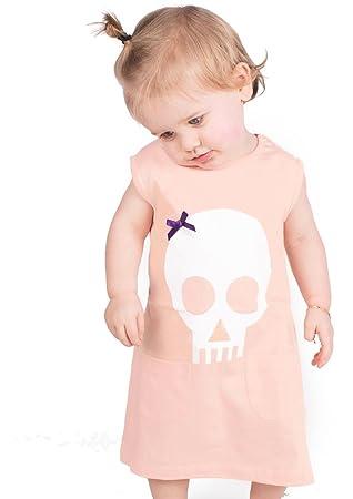 Skull Bow Baby Girls Dress