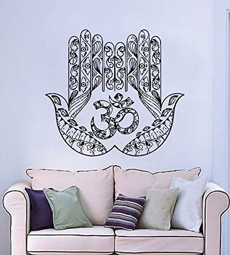 Mano Tatuaje de pared Yoga Arte Fátima Hamsa indio Ganesh Buda Adhesivos de  Lotus Pegatina Vinilo Decoración interior Dormitorio Estudio del diseño del  arte ... 17bfdd7948ce