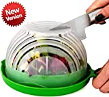 UPGRADE Salad cutter bowl - Best Salad maker. Vegetable chopper, Cutter for Lettuce or Salad chopper for Salad in 60 Seconds by O'Salata (Green)