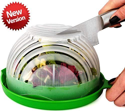 UPGRADE Salad cutter bowl - Best Salad maker. Vegetable chopper, Cutter for Lettuce or Salad chopper for Salad in 60 Seconds by OSalata (Green)