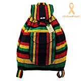 Native Baja Ethnic Backpack – RASTA Pattern Made in Mexico Unisex (Rasta Pattern) For Sale