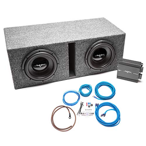 Skar Audio Dual 10″ Complete 800 Watt IX Series Subwoofer Bass Package – Includes Loaded Enclosure with Amplifier