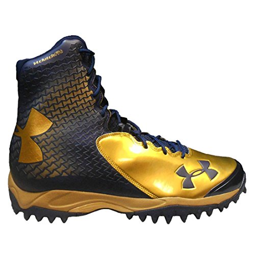Under Armour Men's Team Brawler ATV Turf Football Cleats (13, Metallic Gold/Midnight Navy/Metallic Gold)