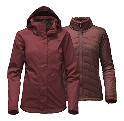 The North Face Women's Mossbud Swirl Triclimate Jacket - Barolo Red/Sequoia Red - L (Past Season) by The North Face