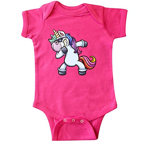 Inktastic Dabbing Unicorn Infant Creeper 18 Months Hot Pink 302F6