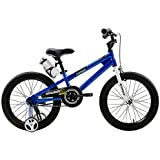 RoyalBaby BMX Freestyle Kids Bikes, 18 inch, in 6 colors, Boy's Bikes and Girl's Bikes with training wheels, Gifts for children