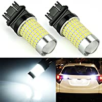 JDM ASTAR 1200 Lumens Extremely Bright 144-EX Chipsets 3056 3156 3057 3157 LED Bulbs with Projector for Backup Reverse Lights, Xenon White