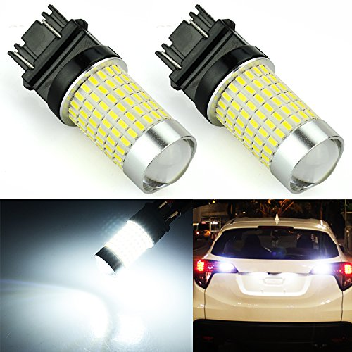 JDM ASTAR 1200 Lumens Extremely Bright 144-EX Chipsets 3056 3156 3057 3157 LED Bulbs with Projector for Backup Reverse Lights, Xenon (Chevrolet C1500 Backup)