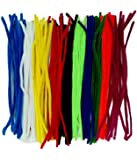 Vardhman 12-inch Length Pipe Cleaners (Multicolour) -Set of 100