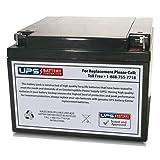 12V 28Ah NB AGM Battery replaces EV12-26, 6-GFM-24, S-12260, FM12240, SP12260, BAT-1226, A512/25 G5, A412/20 G5, NSN 6140-01-562-4178, A512/25.0 G5, NSN 6140-01-505-3639, SP12-26, SG12260T13, H26-12