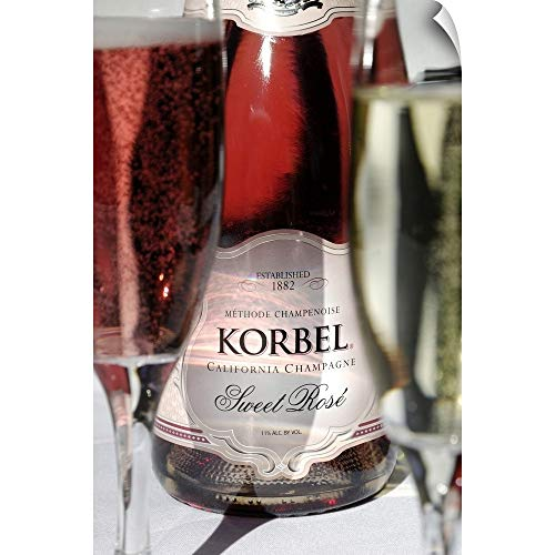CANVAS ON DEMAND USA, California, Sonoma, Californian Champagne at Korbel Winery Wall Peel Art Print, 24