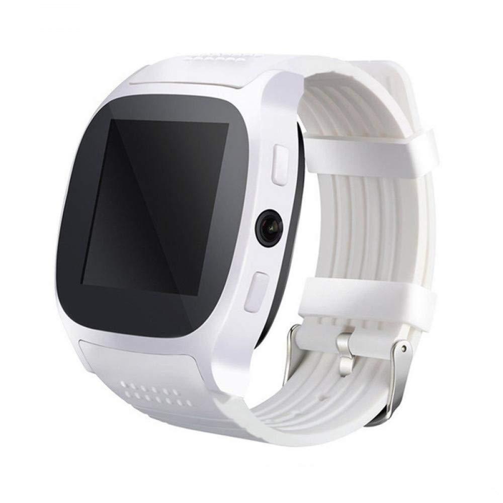 Wolfsay Brazalete Deportivo Bluetooth T8 Reloj Inteligente con cámara Reloj de Pulsera Bluetooth para iOS Android Hombres Momen Smartwatch VS X6 U8 V8 DZ09 ...