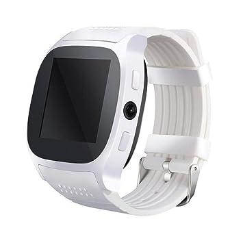 Wolfsay Brazalete Deportivo T8 Hombres Niños Bluetooth Reloj Inteligente con Ranura para Tarjeta Sim Cámara Reloj
