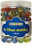 Playbox 16 mm Glass Marbles (Multi-Colours) by Playbox