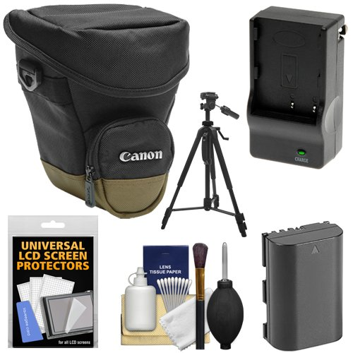 Canon Zoom Pack 1000 Digital SLR Camera Holster Case with LP-E6 Battery & Charger + Tripod + Accessory Kit for EOS 70D, 80D, 5D Mark II III IV, 5DS, 5DS R, 6D, 7D Mark II by Canon