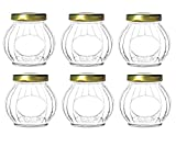 6 gram container - Nakpunar 6 pcs 10 oz Round Spherical Glass Jars with Gold Lids