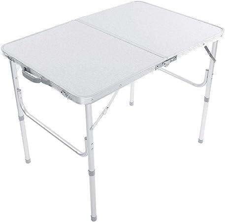 Table de Camping Pliante Table de Jardin Hauteur Réglable ...