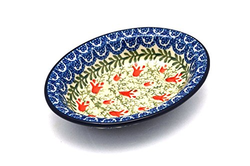 Polish Pottery Soap Dish - Crimson Bells