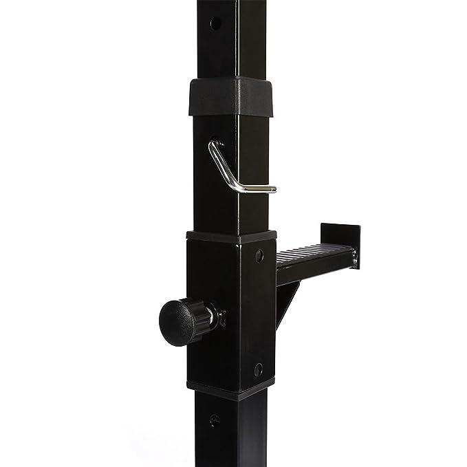 2 X Resistente Ajustable Estante de Gimnasio para Agacharse Barbell Soporte Fuerte para Barra con Pesas Carga 180kg: Amazon.es: Deportes y aire libre