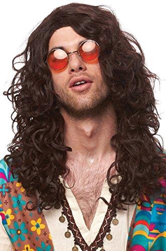 Franco American Novelty Company Hippie Rocker Brown Wig,