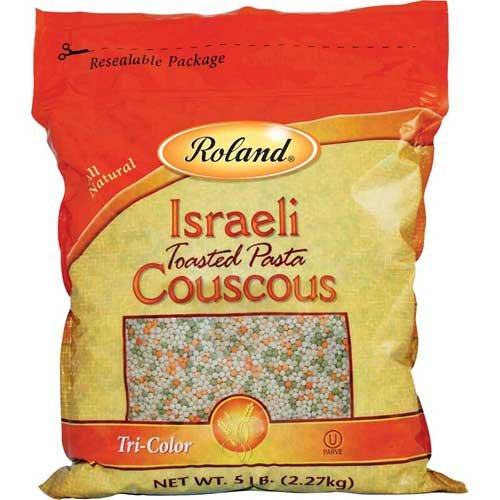 Roland: Tri-Color Israeli Couscous 5 Lb (2 Pack) by Roland