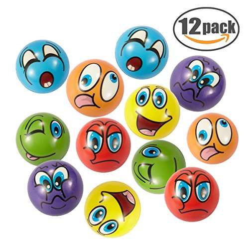 EMOJI Stress Ball 12 PCS Party Favor Balls (2.5