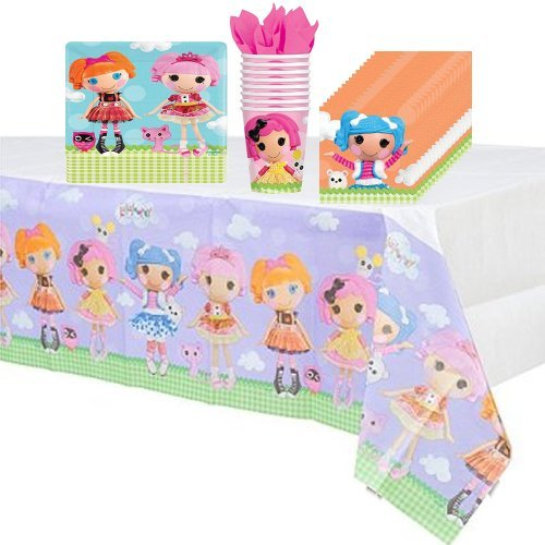 Lalaloopsy Party Supplies Pack Including Plates, Cups, Napkins and Tablecover - 8 Guests by Amscan -