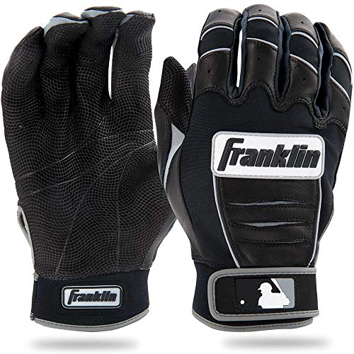 Franklin Sports MLB CFX Pro Batting Gloves, Black/Black (2015)