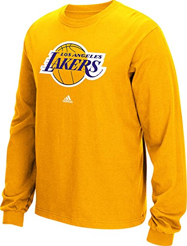 NBA Los Angeles Lakers Men's Full Primary Logo Long Sleeve Tee, XX-Large, Gold