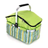 Global Brands Online 18L Portable Folding Car Cooler Outdoor Camping Picnic Ice Pack with Car Charger Car Refrigerator