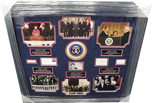 Richard Nixon Ronald Regan Carter George Bush Ford Signed President Collage Auto from Cardboard Legends Online