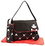 Disney Mickey Mouse Multi Piece Diaper Bag with Flap, Toss Heads Print