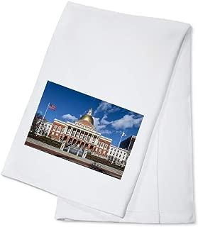 product image for Boston, Massachusetts - Massachusetts State House 9000140 (100% Cotton Kitchen Towel)