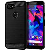 Google Pixel 3a Case,Yiakeng Shock Resistant Soft Glitter TPU Anti-Fingerprint Full Protective Phone Cases for Google Pixel 3a/3 Lite 5.6' (Black)