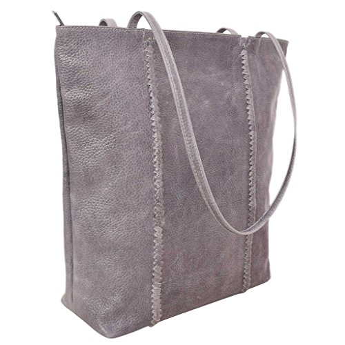 Latico Leathers Camden Tote Genuine Authentic Luxury Leather, Designer Made, Business Fashion and Casual Wear, Pebble Denim by Latico