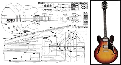 gibson es 5 wiring diagram amazon com plan of gibson es 335 hollow body electric guitar  plan of gibson es 335 hollow body